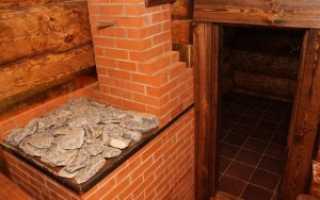Печь в баню из кирпича