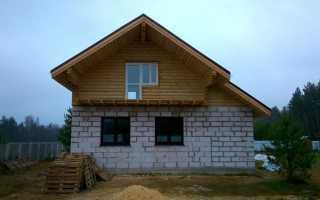 Комбинированные дома из пеноблоков и дерева