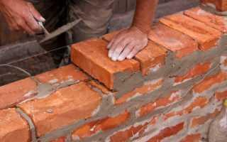 Какой должна быть толщина стены из кирпича