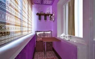 Покраска кирпичной стены на балконе