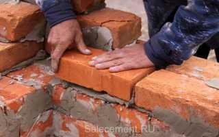 Расход цемента на куб кладки кирпича