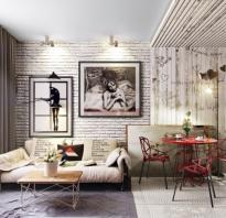 Кирпичная стена в квартире