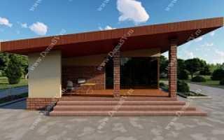 Проект комбинированного дома из кирпича и дерева