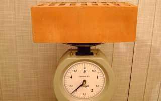Сколько весит печной кирпич