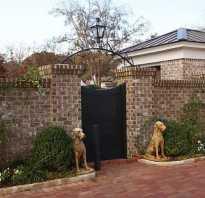 Забор из кирпича желтого