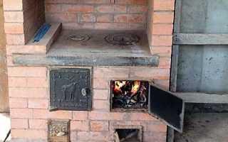Как сложить печь с плитой