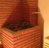Как обложить железную печь в бане