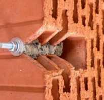 Крепеж для кирпичной стены