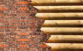 Отделка деревянного дома кирпичом
