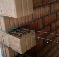 Армирование кладки из кирпича