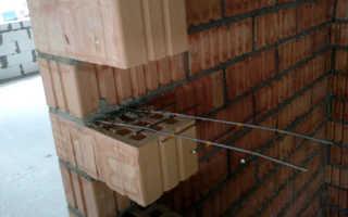 Армирование кирпичной кладки через сколько рядов снип