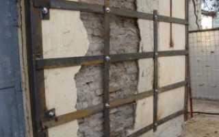Усиление трещин в кирпичных стенах