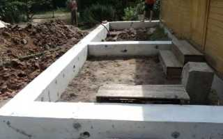 Фундамент под пристройку к дому