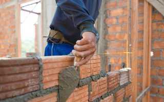 Расход цемента при кладке кирпича