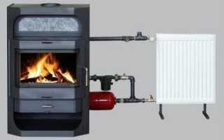 Печь с теплообменником для отопления