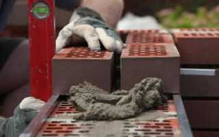 Расход цемента на кладку кирпича 1м2