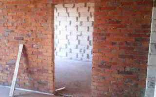 Устройство проемов в кирпичных стенах