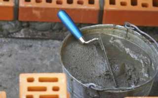 Приготовление цементно песчаного раствора