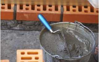 Состав раствора для кладки кирпича