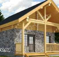 Дом из кирпича и дерева