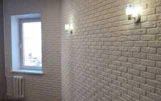 Отделка стен под белый кирпич