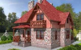 Дом из кирпича и бруса
